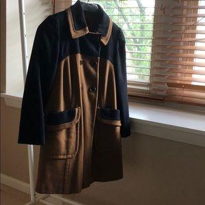 Topshop coat black/camel US size 2